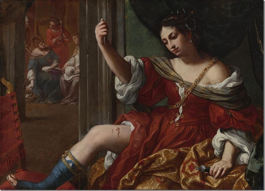 Elisabetta_Sirani_-_Portia_wounding_her_thigh