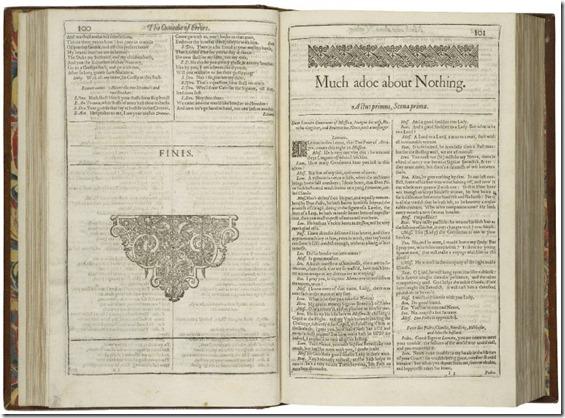 Folio Much Ado